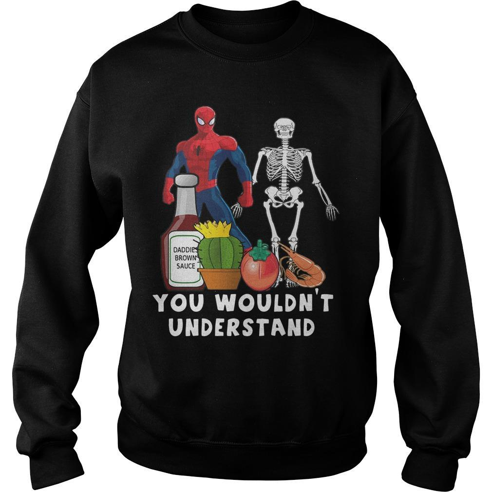 Spider Man And Skellington You Wouldn't Understand Sweater