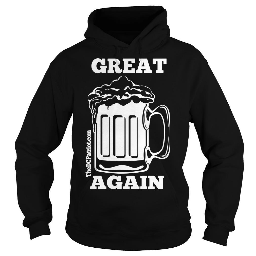 St Patricks' Day Beer Great Again Hoodie
