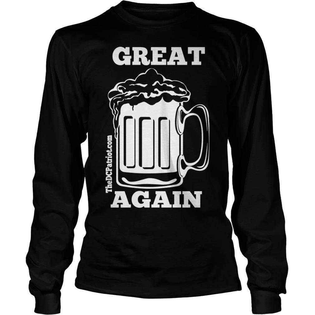 St Patricks' Day Beer Great Again Longsleeve