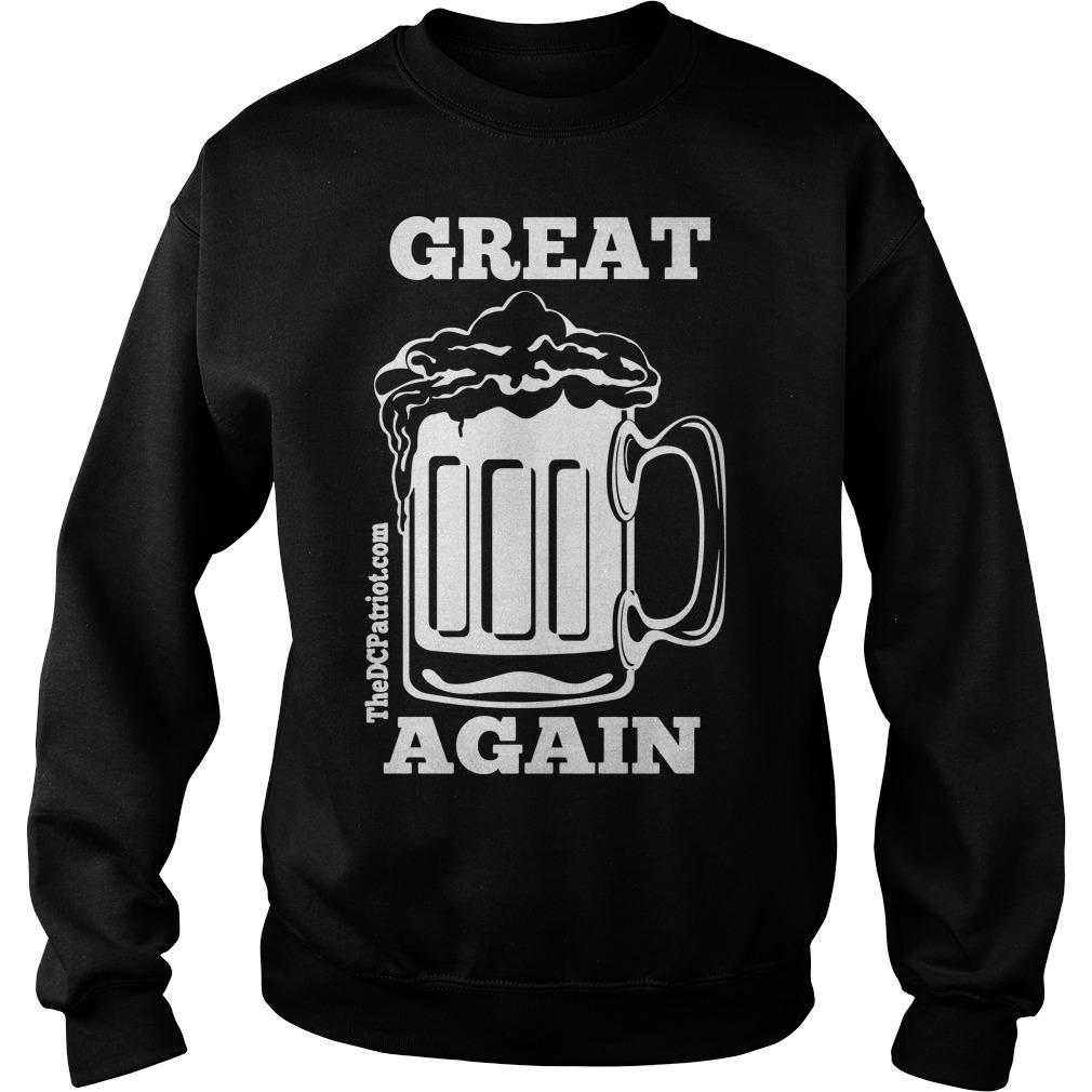 St Patricks' Day Beer Great Again Sweater