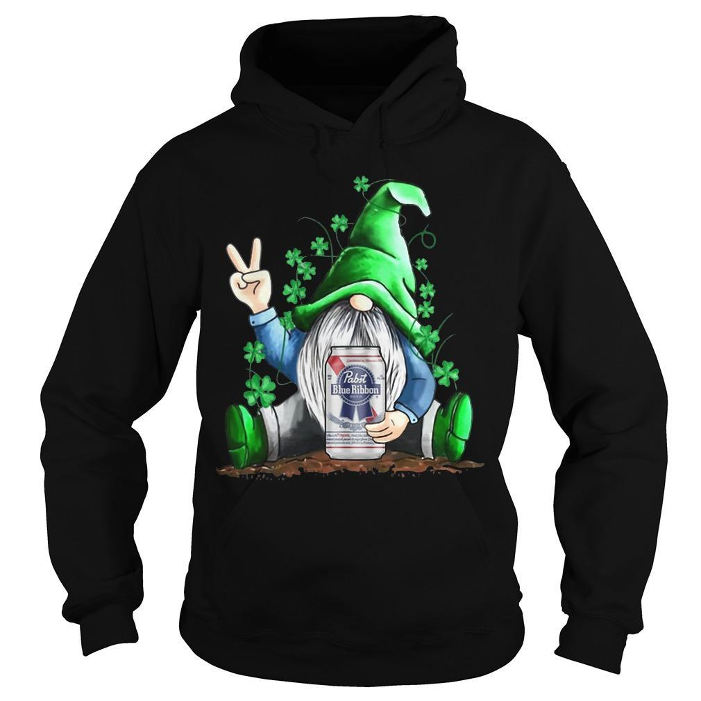St Patrick's Day Gnome Pabst Blue Ribbon Hoodie
