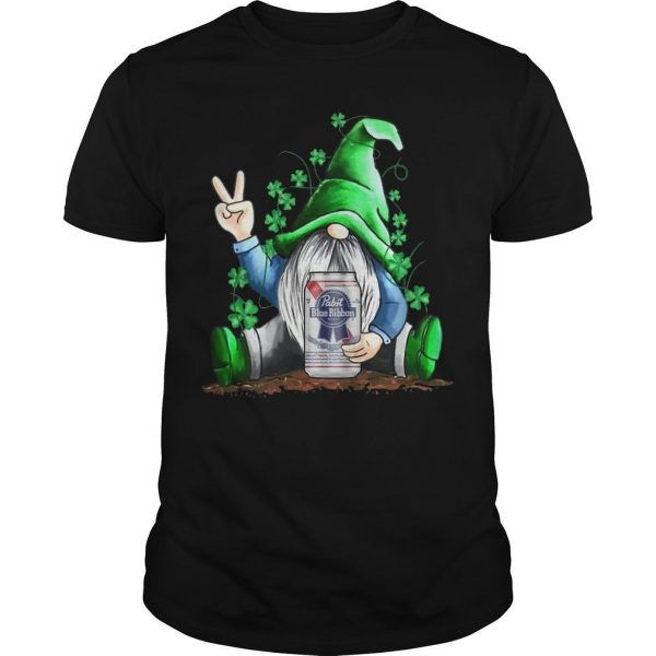 St Patrick's Day Gnome Pabst Blue Ribbon Shirt