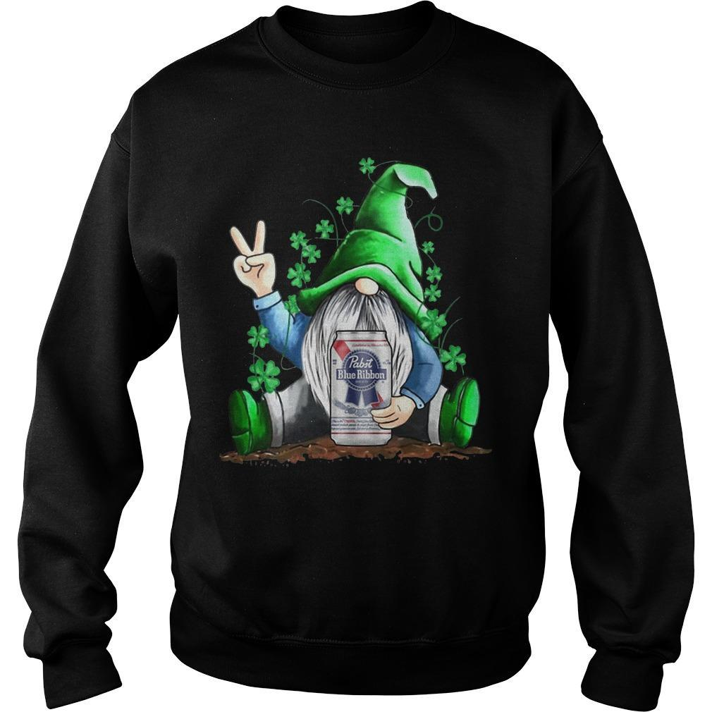 St Patrick's Day Gnome Pabst Blue Ribbon Sweater