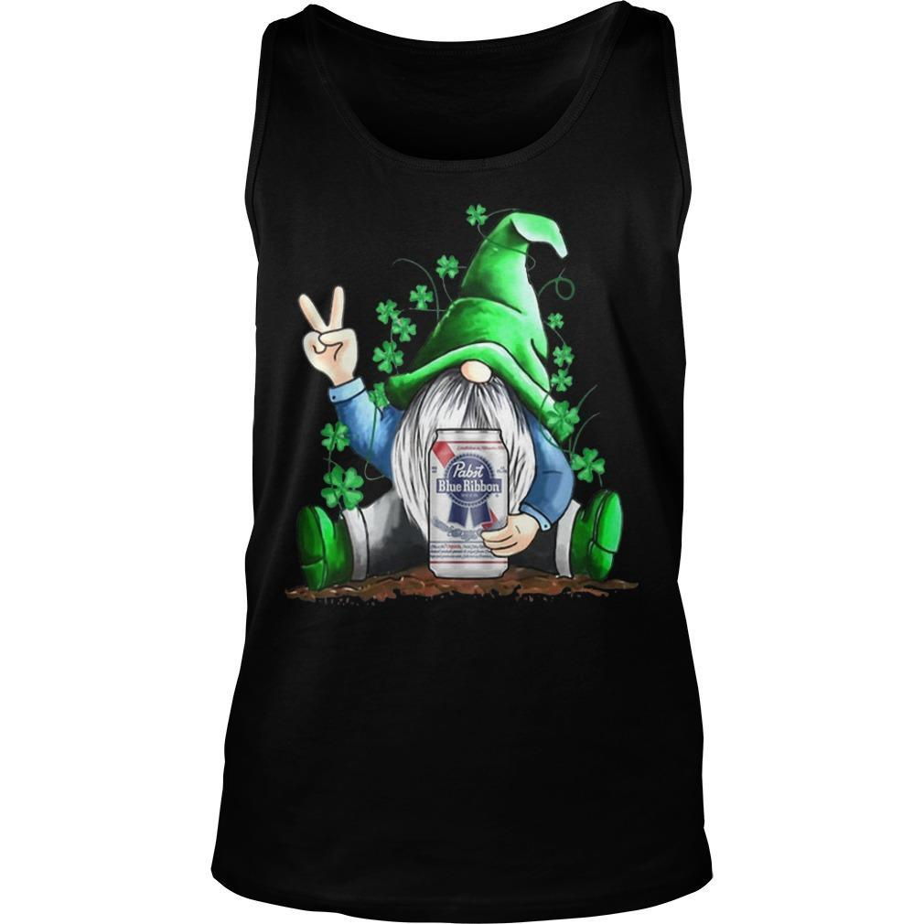 St Patrick's Day Gnome Pabst Blue Ribbon Tank Top