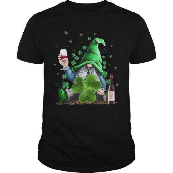St Patrick's Day Irish Gnome And Wine Shirt
