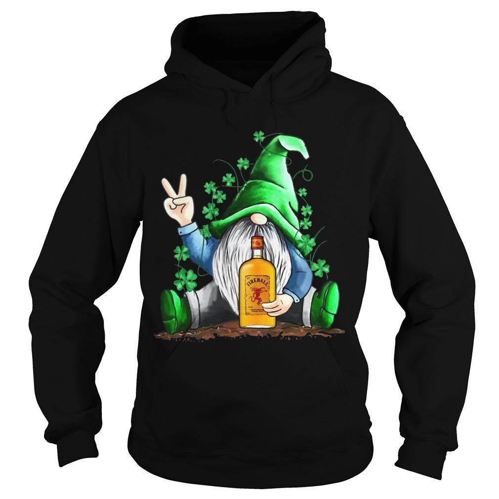 St Patrick's Day Irish Gnome Fireball Hoodie