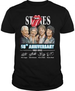Stones 58th Anniversary 1962 2020 Signatures Shirt