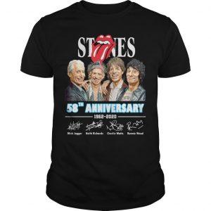 Stones 58th Anniversary 1962 2020 Signatures Shirt