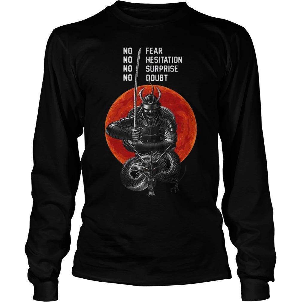 Sunset Musashi Samurai No Fear No Hesitation No Surprise No Doubt Longsleeve