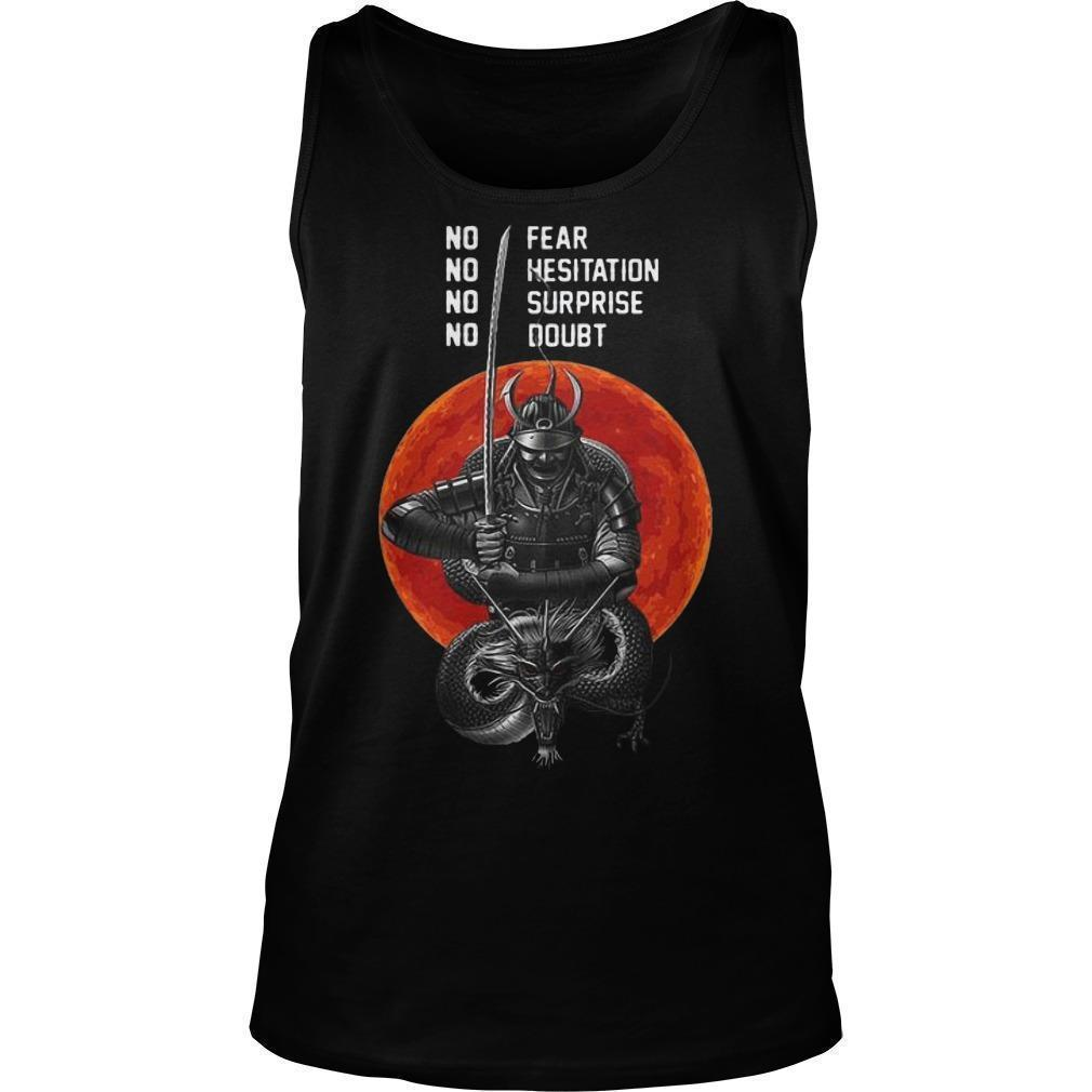 Sunset Musashi Samurai No Fear No Hesitation No Surprise No Doubt Tank Top