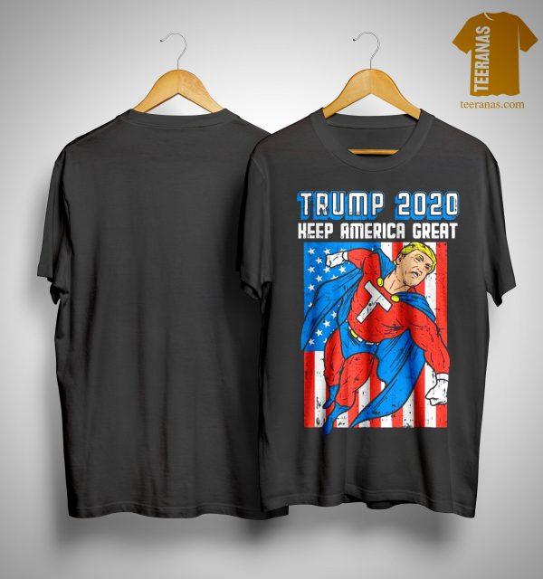Superhero Donald Trump 2020 Keep America Great Shirt