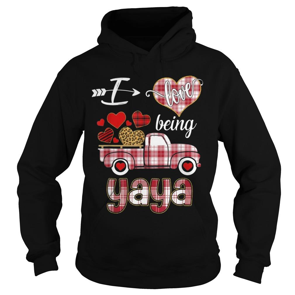 Valentines Day Truck I Love Being Yaya Hoodie
