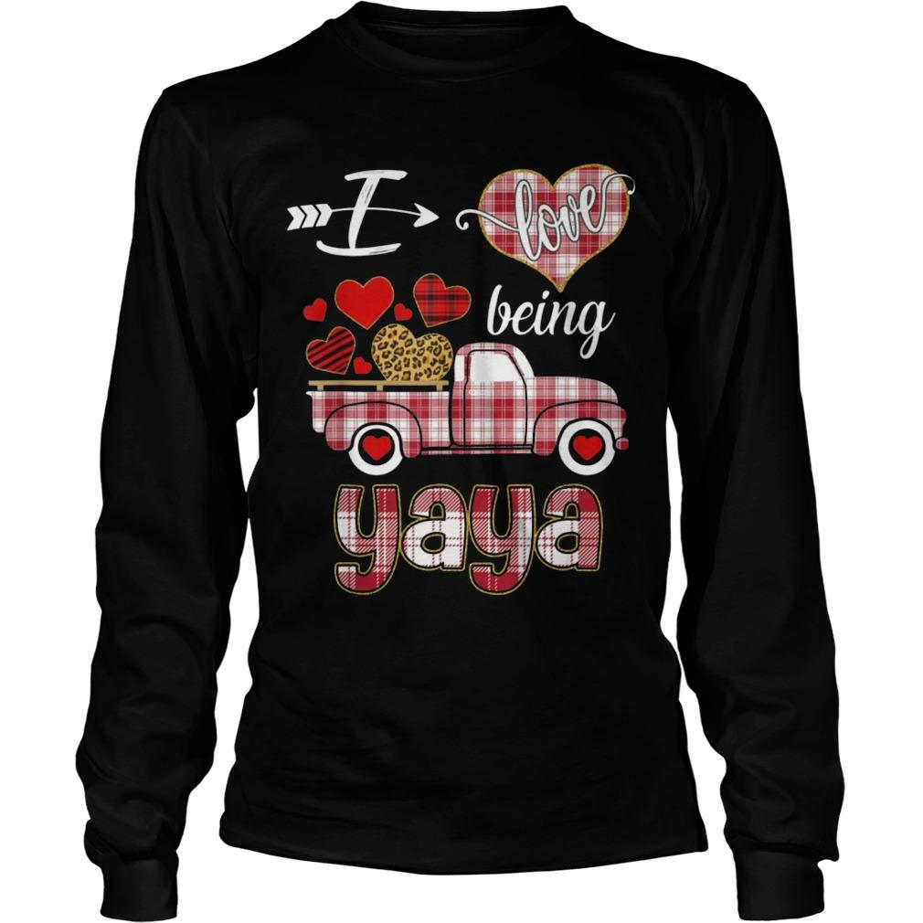 Valentines Day Truck I Love Being Yaya Longsleeve