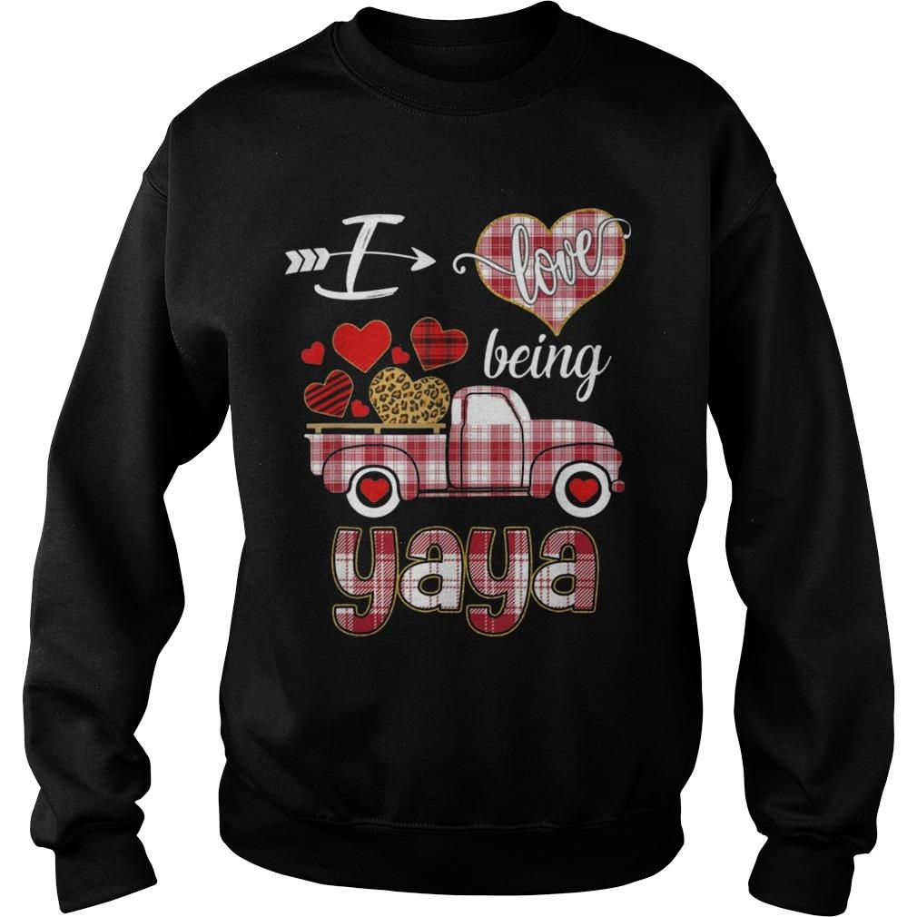 Valentines Day Truck I Love Being Yaya Sweater