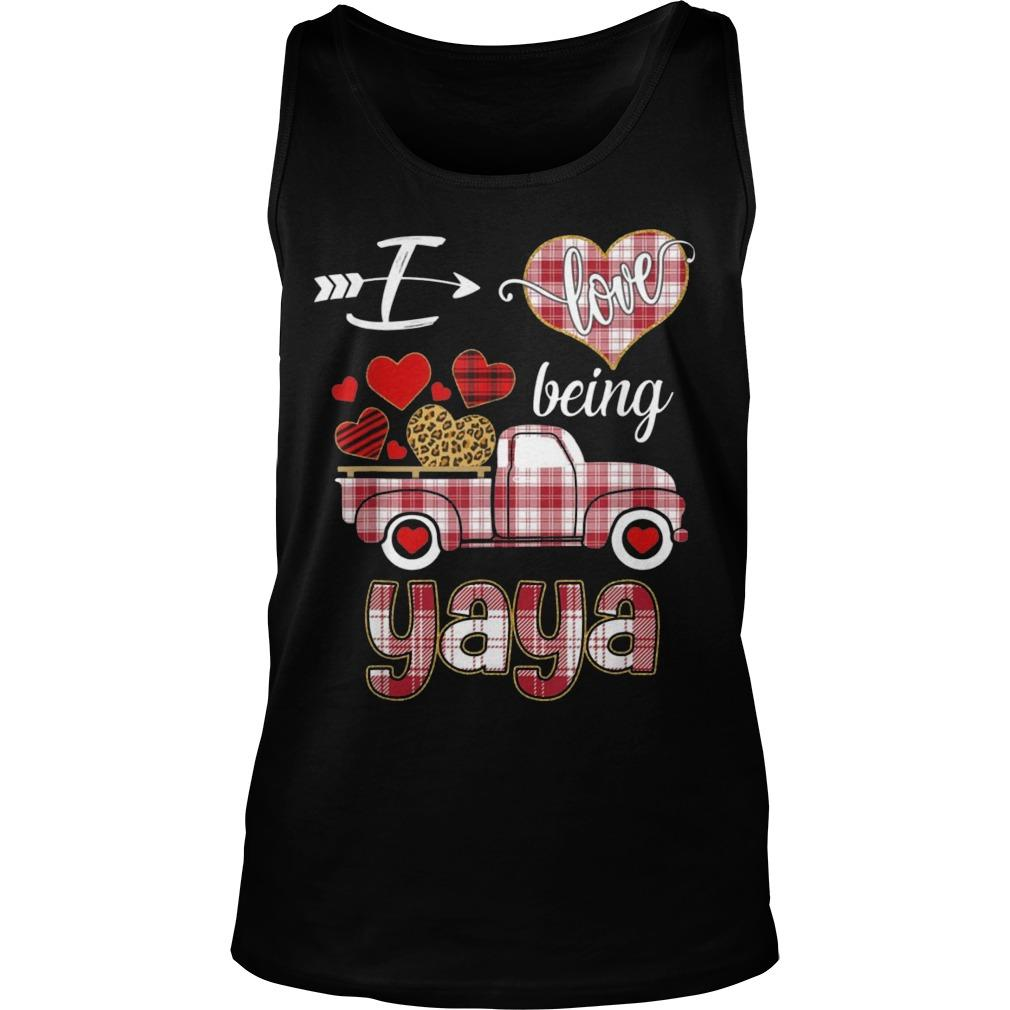 Valentines Day Truck I Love Being Yaya Tank Top
