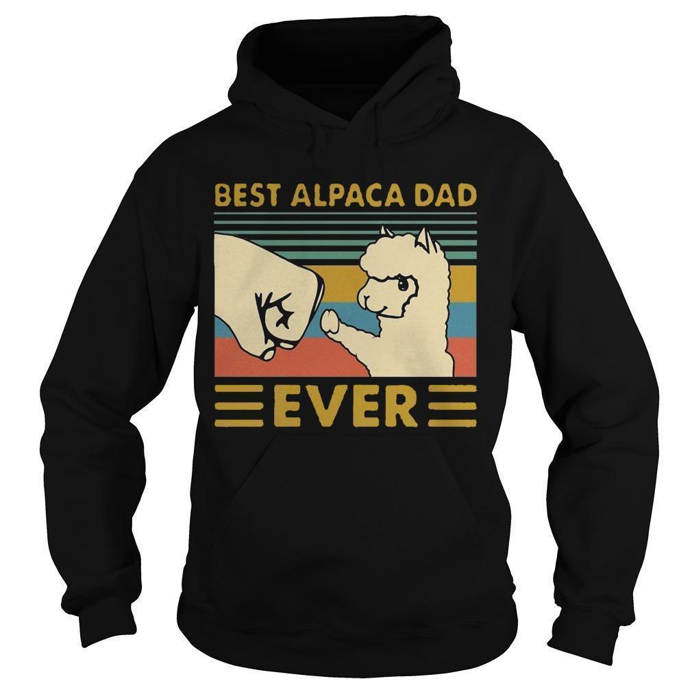 Vintage Best Alpaca Dad Ever Hoodie