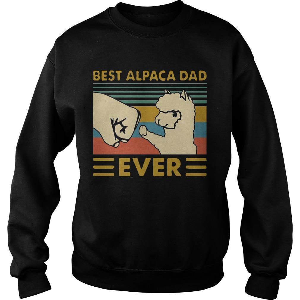 Vintage Best Alpaca Dad Ever Sweater