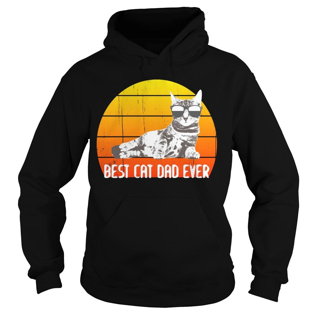 Vintage Best Cat Dad Ever Hoodie