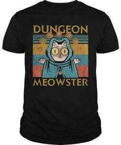 Vintage Game Dungeon Meowster Shirt