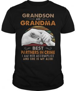 Vintage Grandson And Grandma Best Partners In Crime Shirt