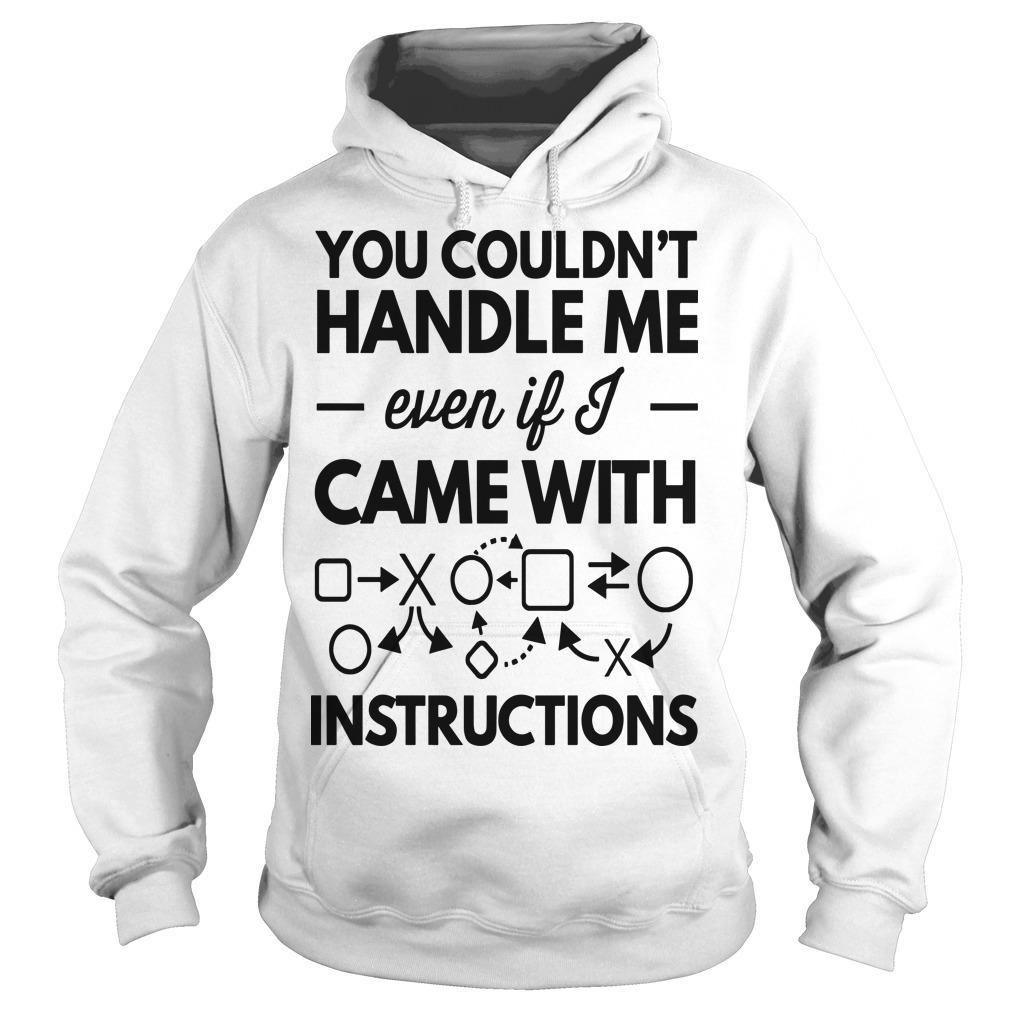 You Couldn't Handle Me Even If Came With Instructions Hoodie