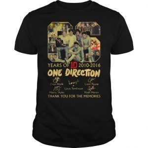 06 Years Of One Direction 2010 2016 Thank You For The Memories Shirt