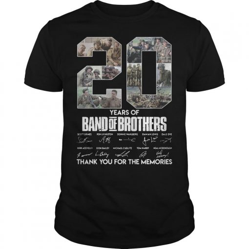 20 Years Of Band Of Brothers Thank You For The Memories Shirt