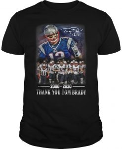 2000 2020 Thank You Tom Brady Shirt