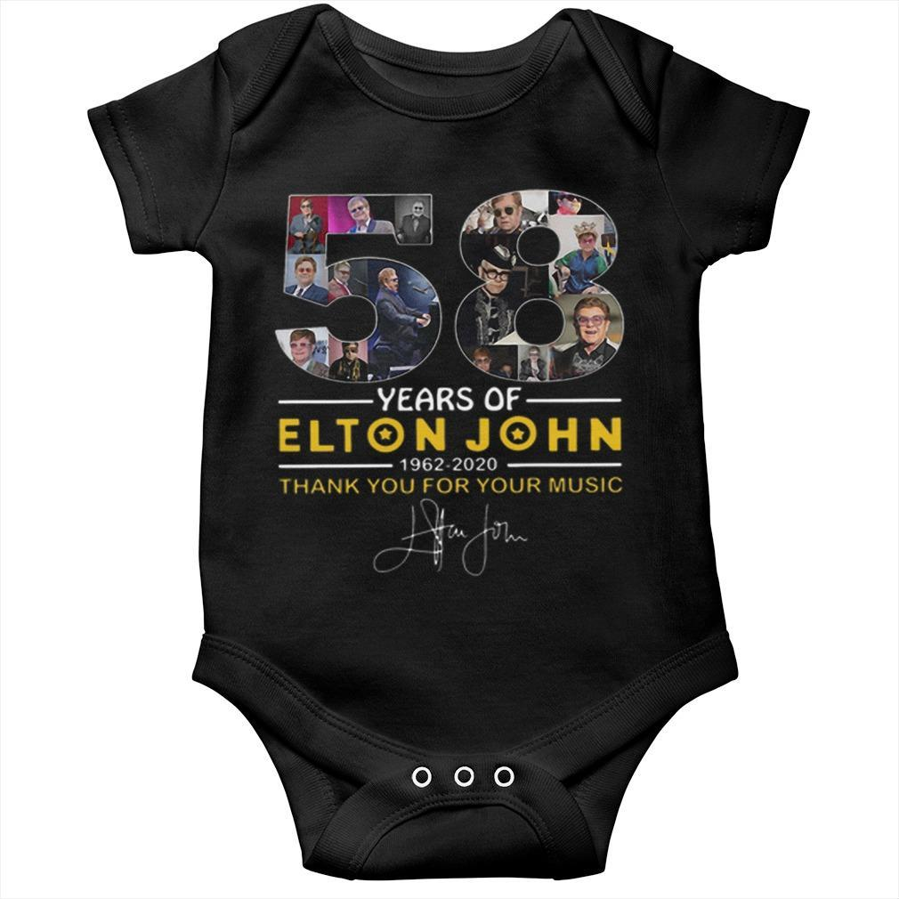 58 Years Of Elton John 1962 2020 Thank You For Your Music Signature Longsleeve