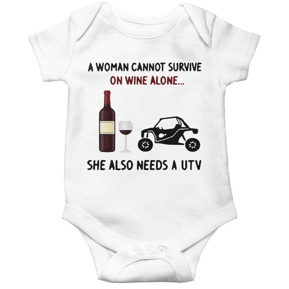 A Woman Cannot Survive On Wine Alone She Also Needs A Utv Longsleeve