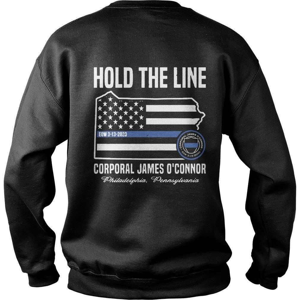 America Flag Hold The Line Corporal James O'connor Sweater