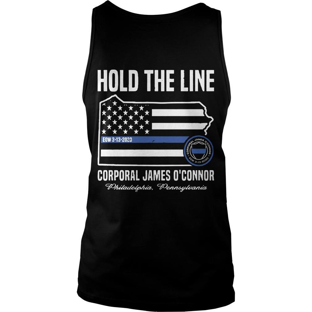 America Flag Hold The Line Corporal James O'connor Tank Top