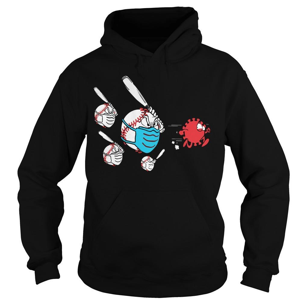 Baseball Fighting With Corona Hoodie
