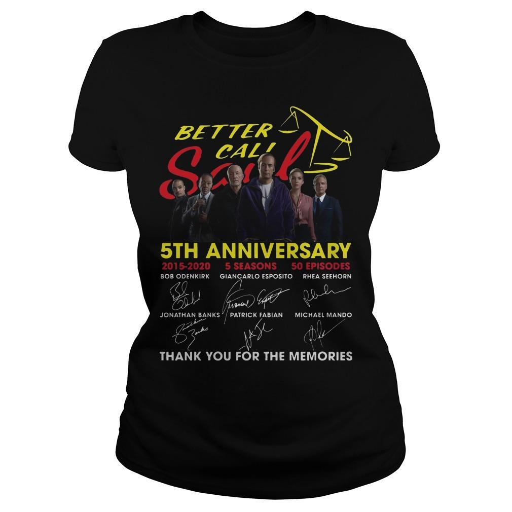 Better Call Saul 5th Anniversary Signatures Thank You For The Memories Longsleeve