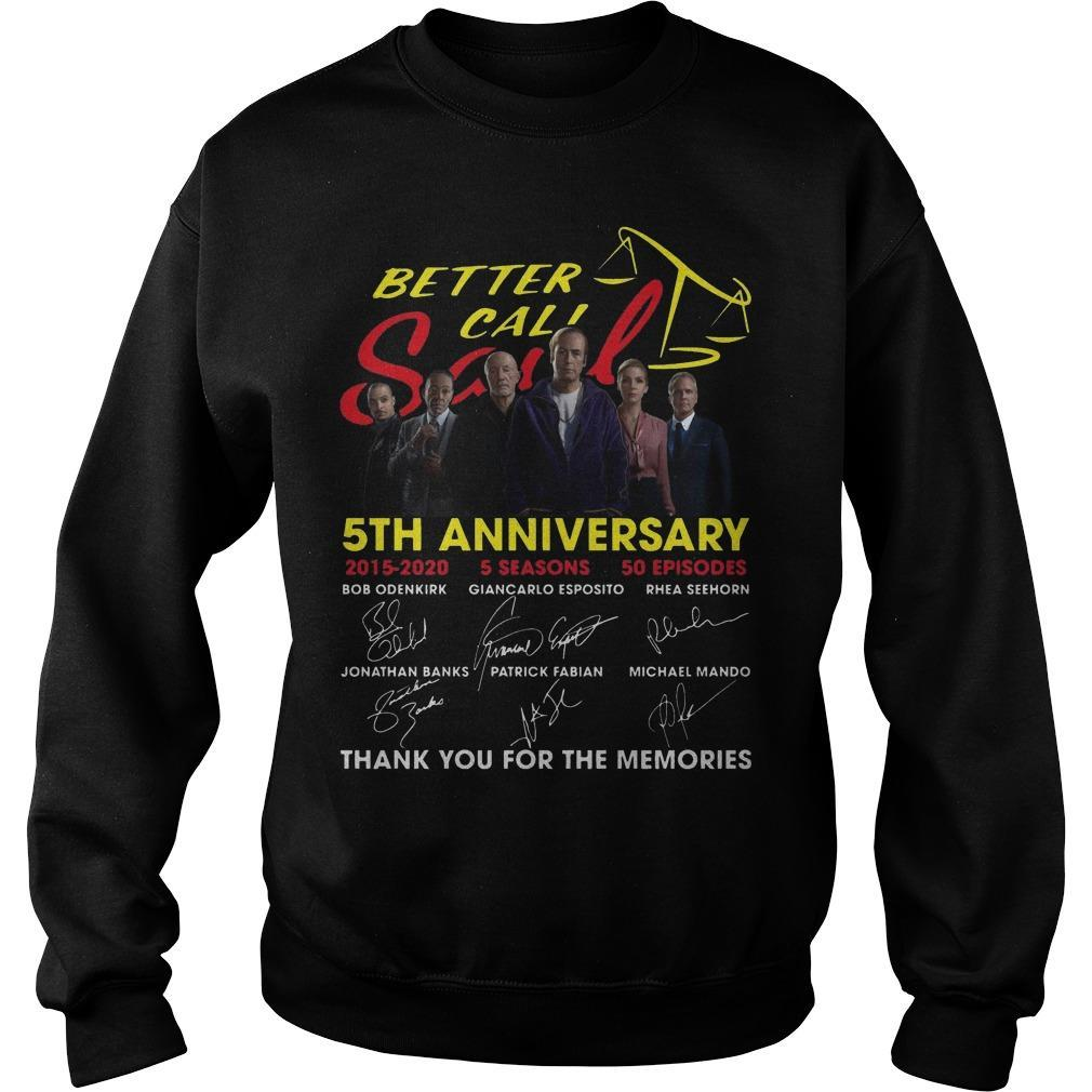 Better Call Saul 5th Anniversary Signatures Thank You For The Memories Sweater