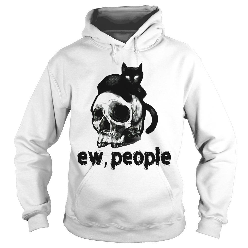 Black Cat And Skull Ew People Hoodie