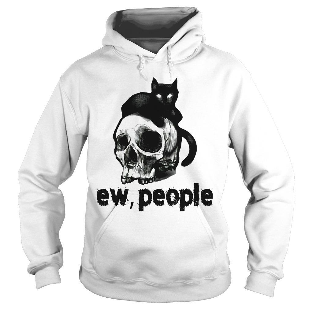 Black Cat And Skull Ew People Hoodie