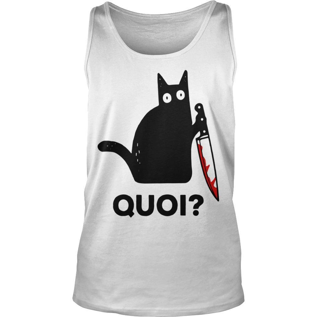 Black Cat Holding Knife Quoi Tank Top