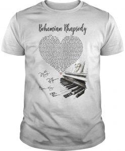 Bohemian Rhapsody Heart Piano Shirt