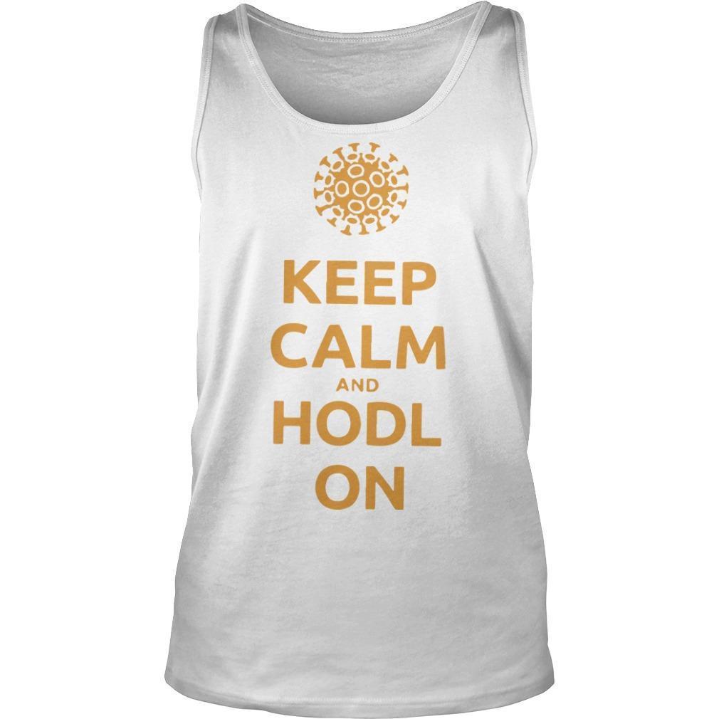 Coronavirus Keep Calm And Hodl On Tank Top