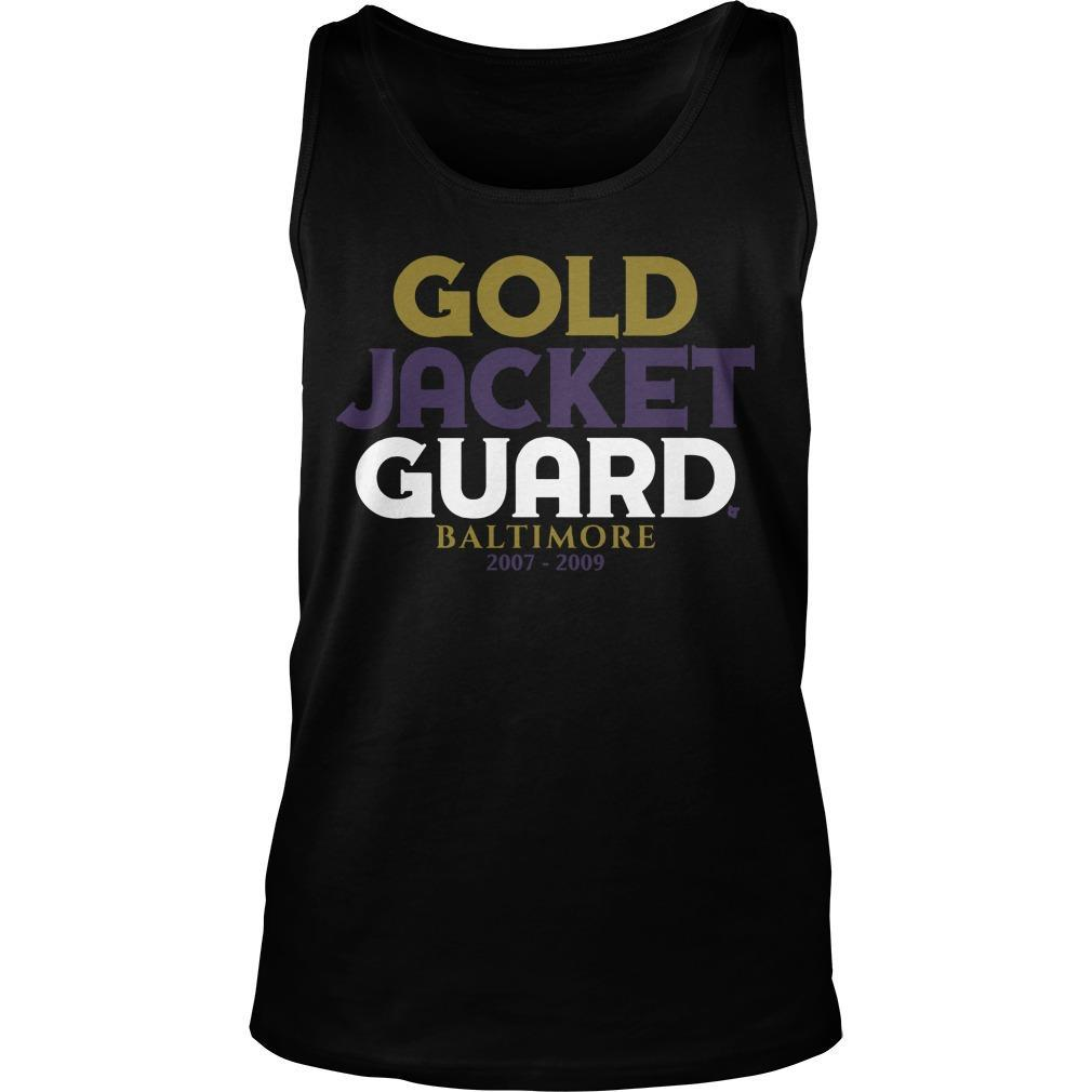 Gold Jacket Guard Baltimore 2007 2019 Tank Top