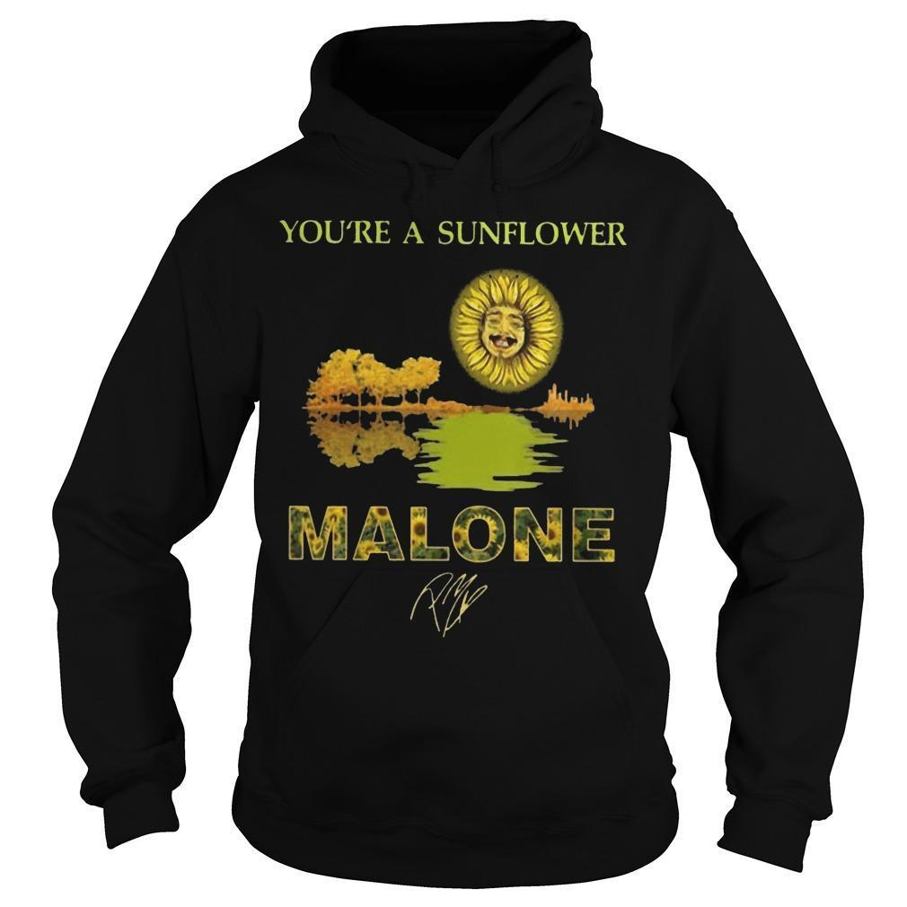 Guitar You're A Sunflower Malone Signature Hoodie