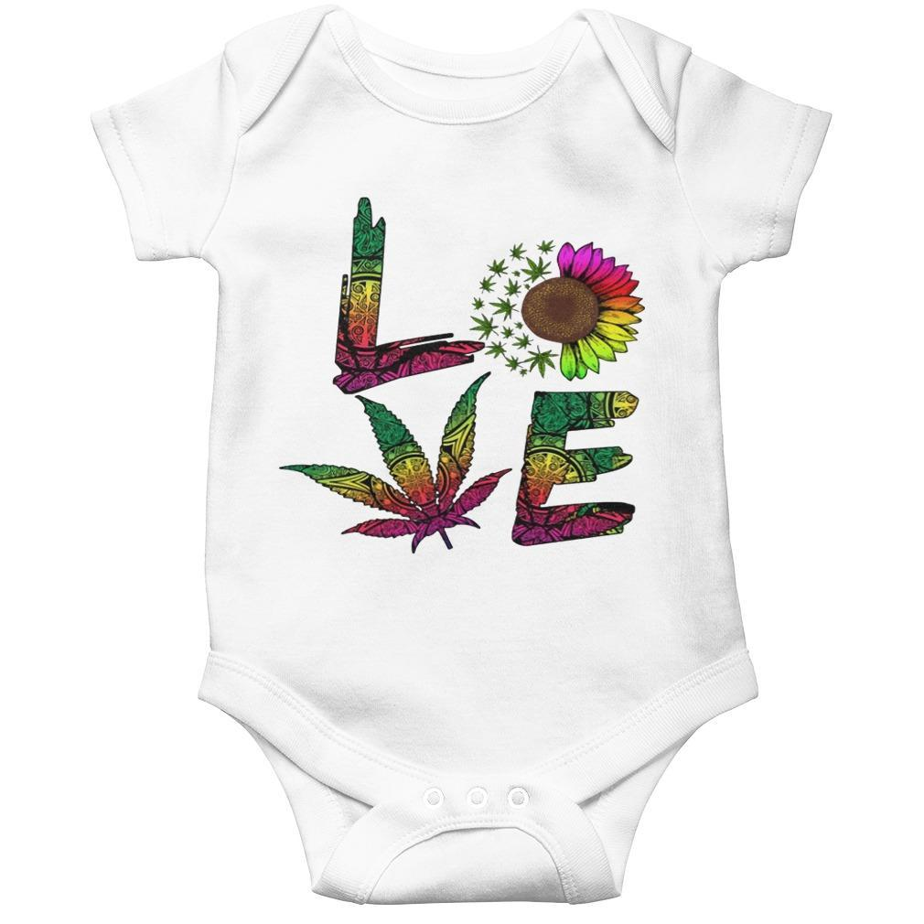 Hippie Sunflower Weed Love Longsleeve