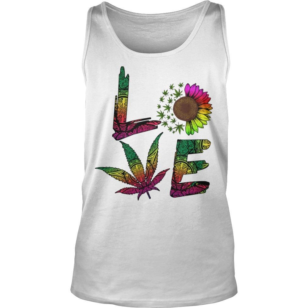 Hippie Sunflower Weed Love Tank Top