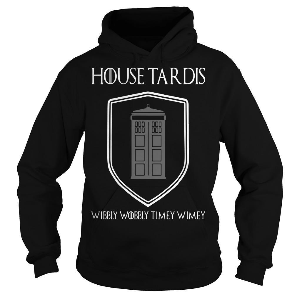 House Tardis Wibbly Wobbly Timey Wimey Hoodie