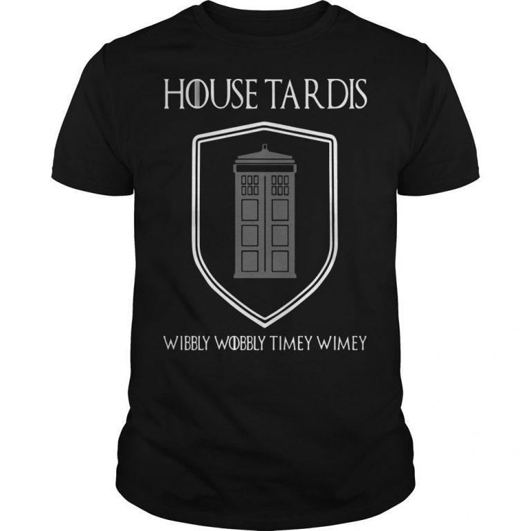House Tardis Wibbly Wobbly Timey Wimey Shirt
