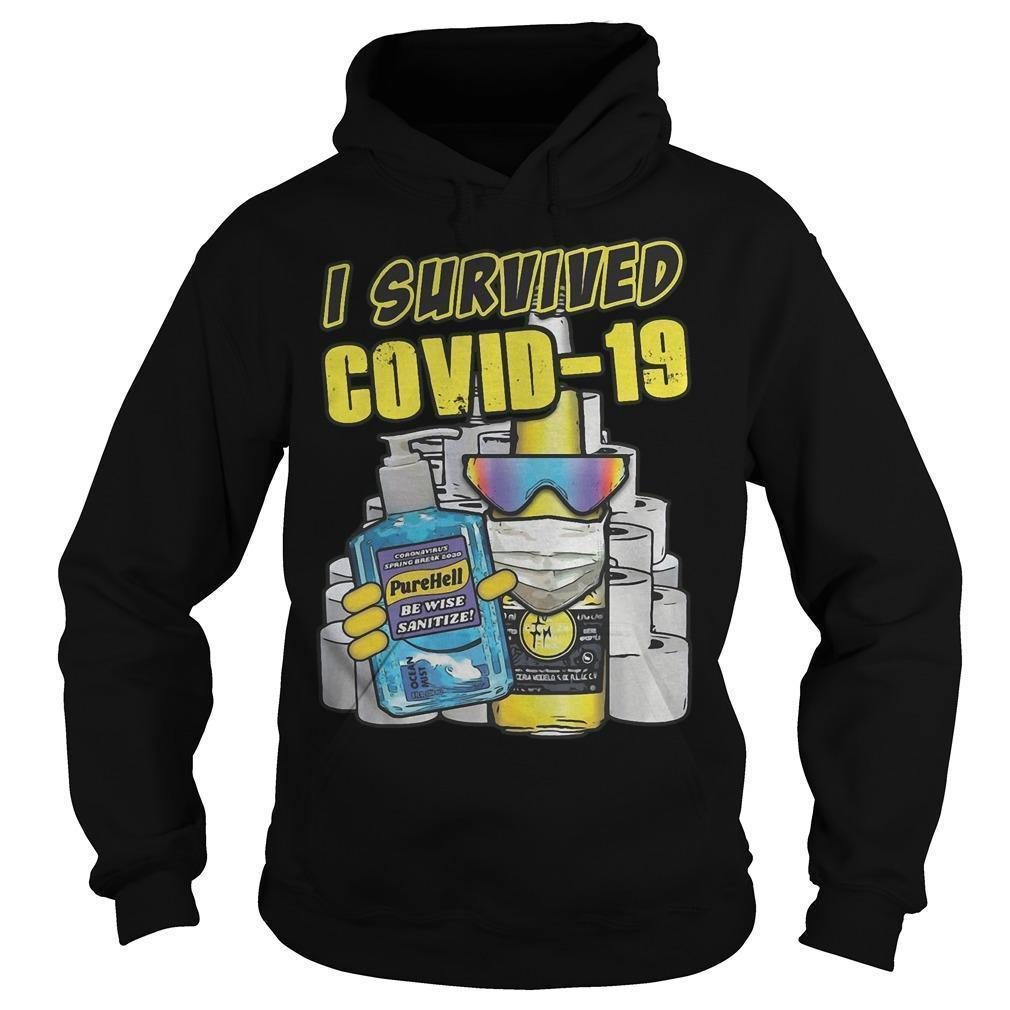 I Survived Covid 19 T Hoodie