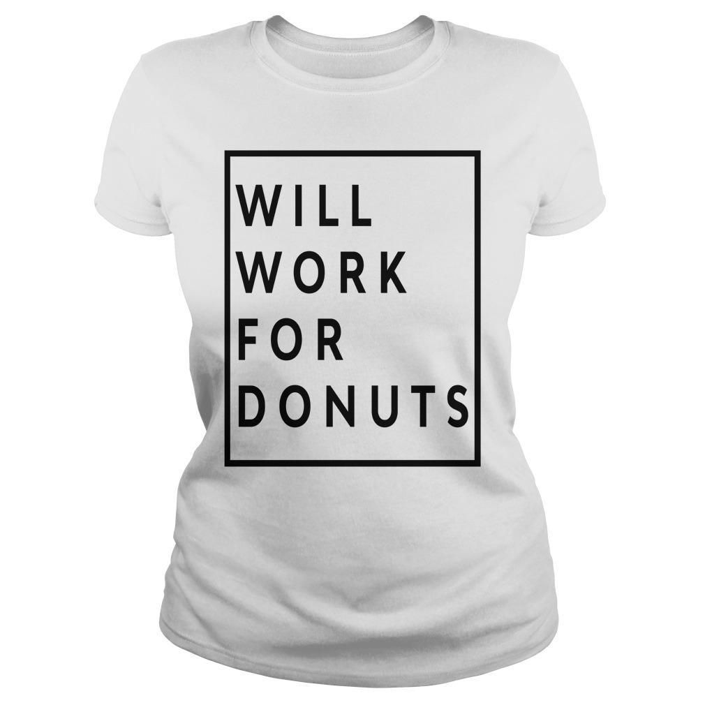 Jeb Bush Will Work For Donuts Longsleeve