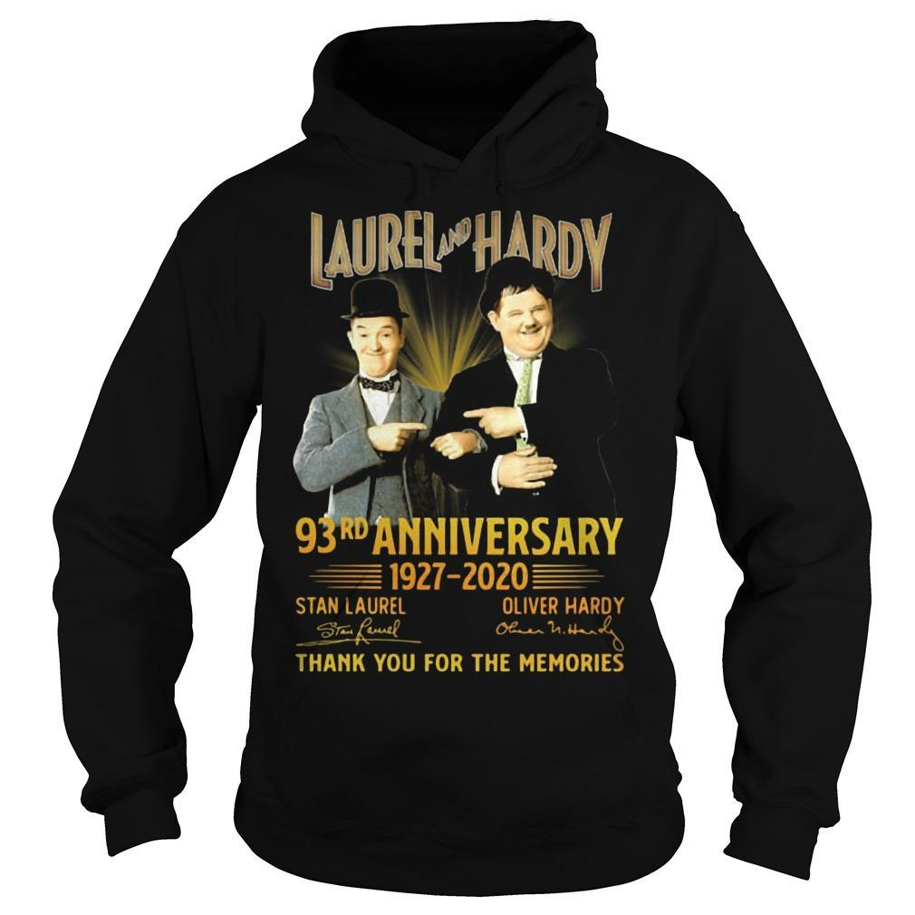 Laurel And Hardy 93rd Anniversary 1927 2020 Thank You For The Memories Hoodie