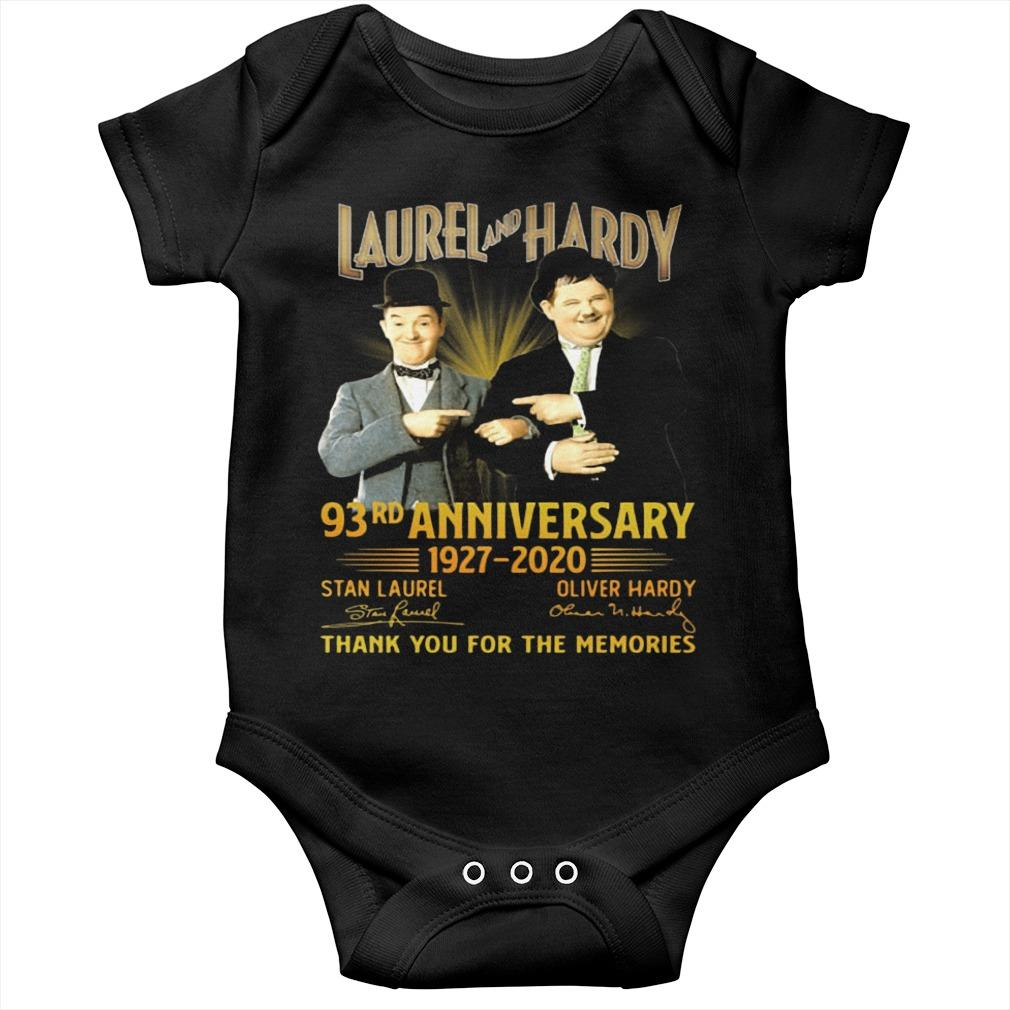 Laurel And Hardy 93rd Anniversary 1927 2020 Thank You For The Memories Longsleeve